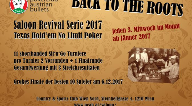 Start der Saloon Revival Serie 2017